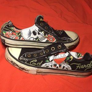Ed Hardy | Slip-on Converse Style Shoe | Sz: 6